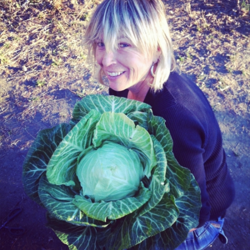 Kate with quite the cabbage