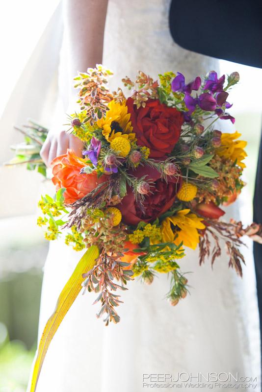 Vibrant Bridal Bouquet by Big Sur Flowers