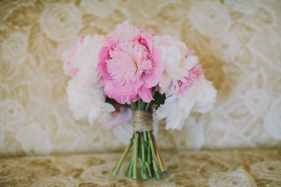Romantic Pink Bridal Bouquet by Kate Healey