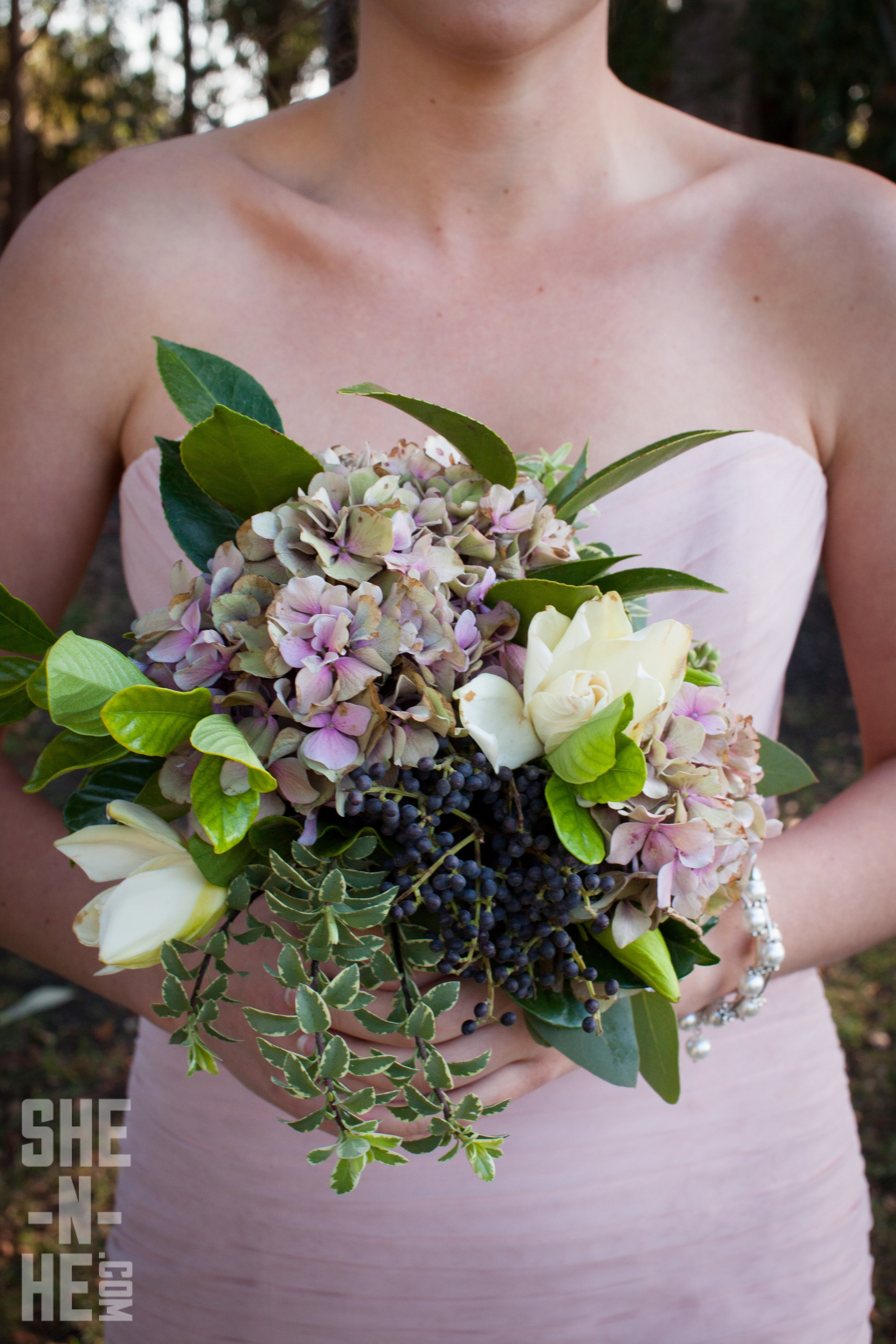 Purple and Wild Bridesmaids Bouquet