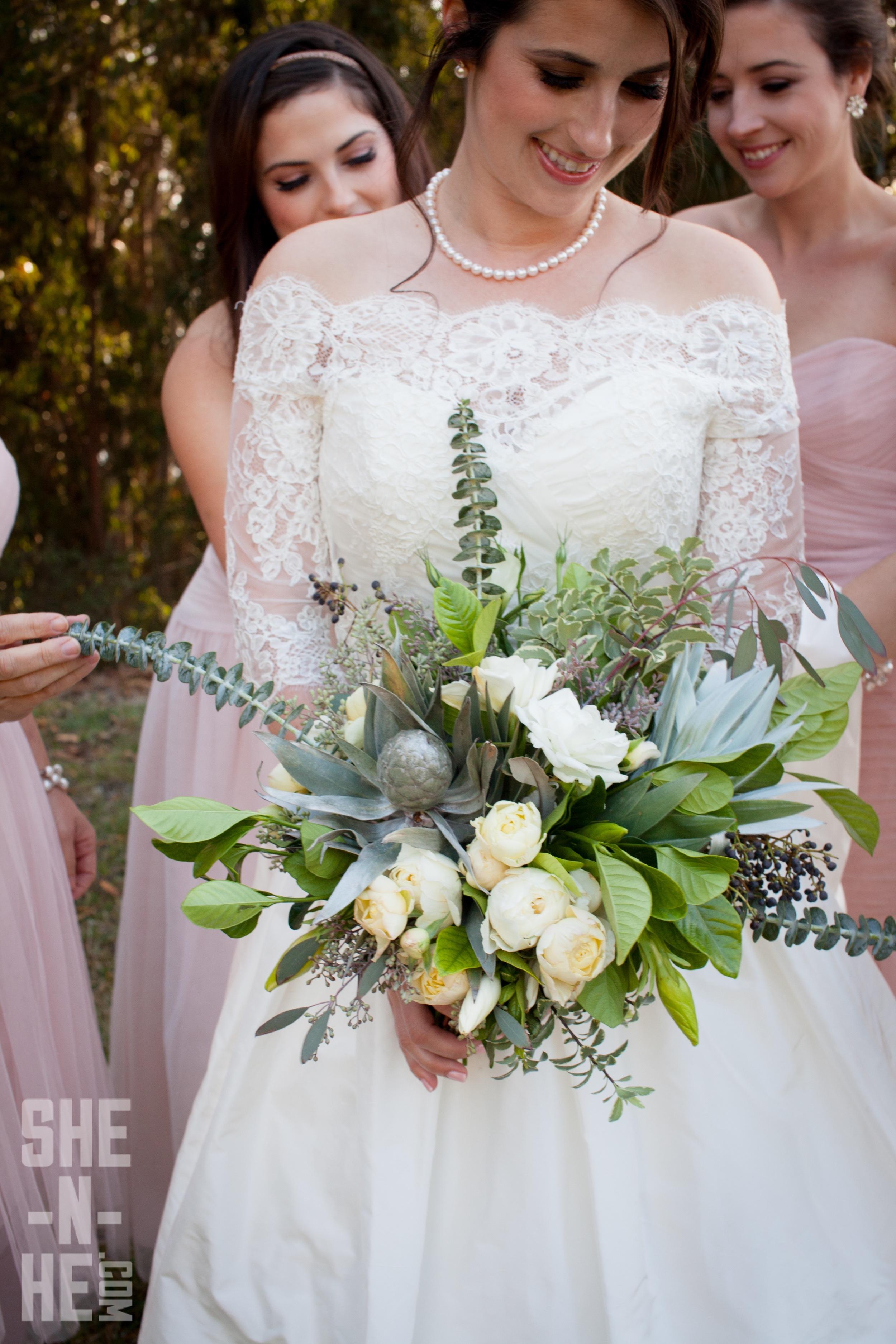 Lush Wedding Bouquet by Big Sur Flowers