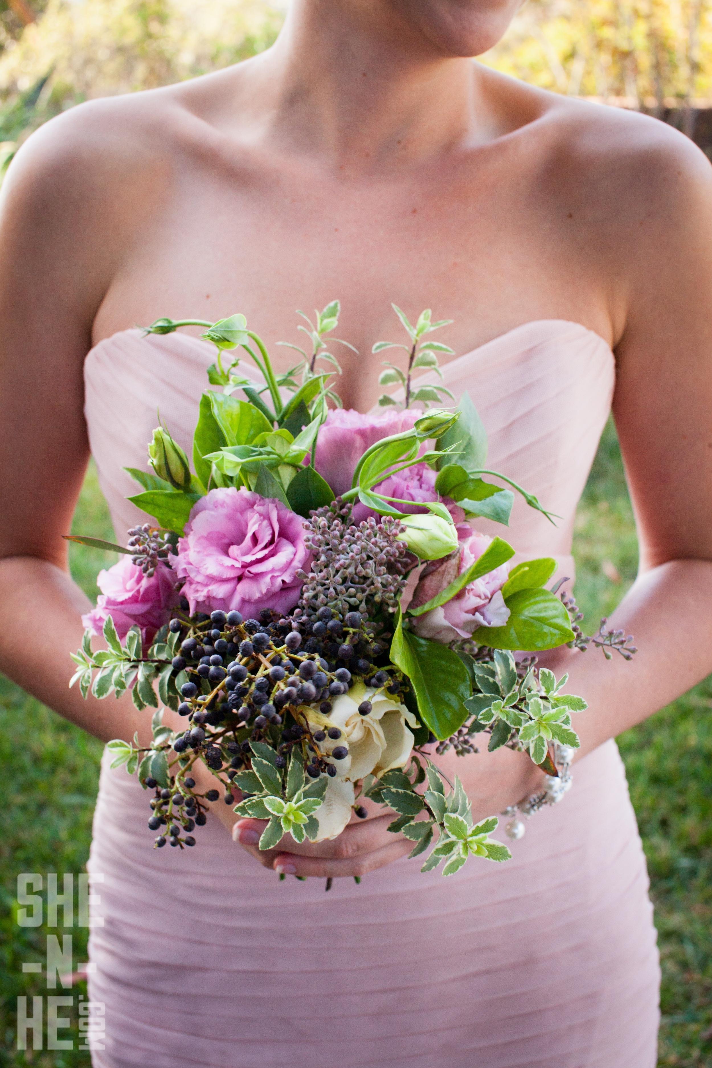 Bridesmaid Bouquet by Big Sur Flowers