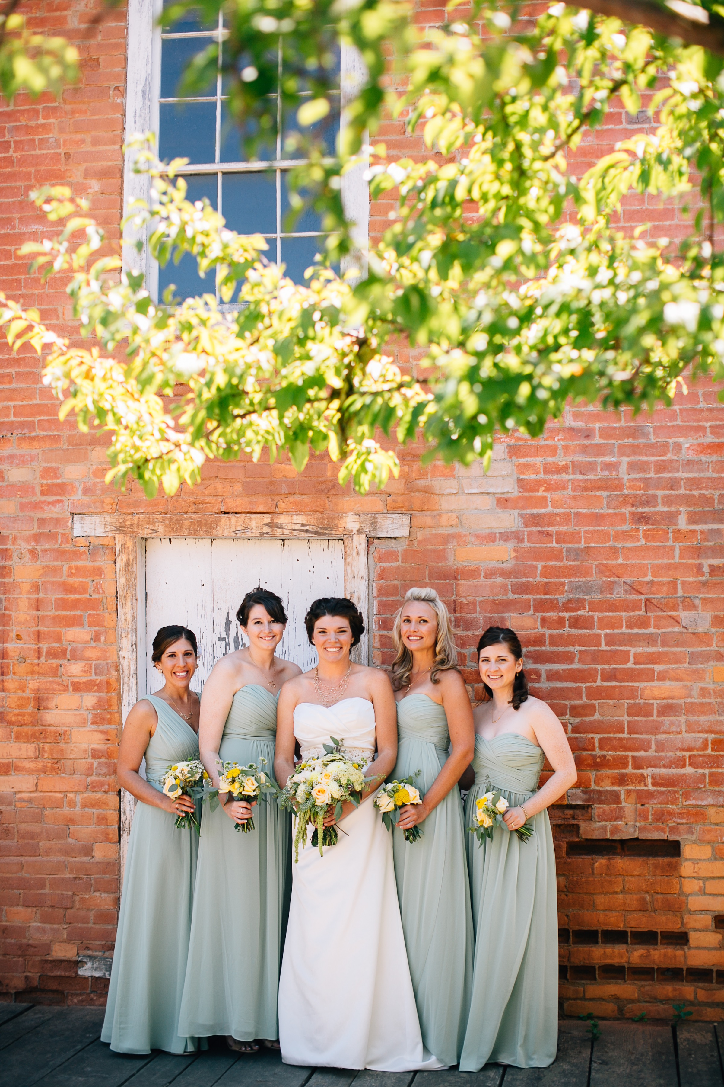 Bride and Bridesmaids with Bouquets by Big Sur Flowers