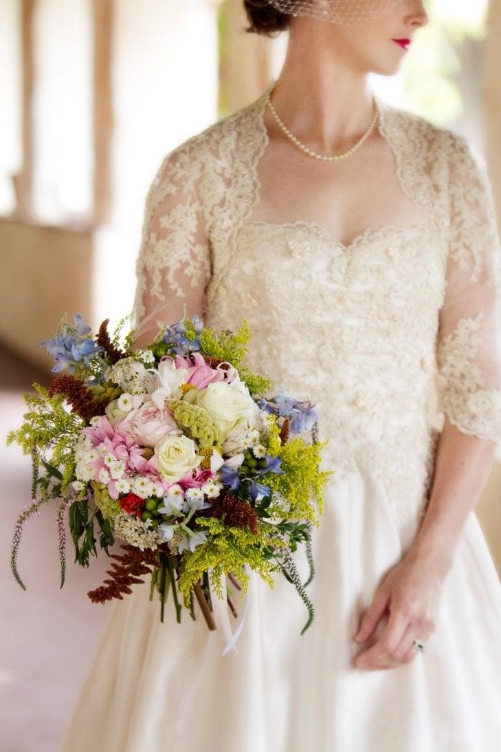Bridal Bouquet by Florist Kate Healey of Big Sur Flowers