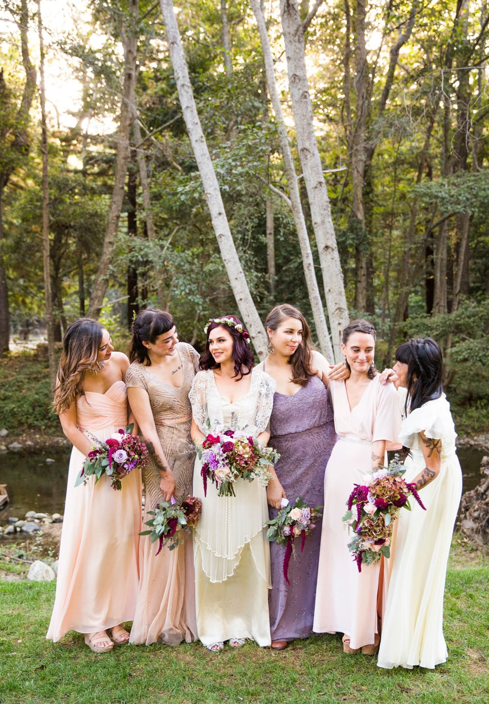 Harmonizing Bridal Bouquets by Kate Healey of Big Sur Flowers