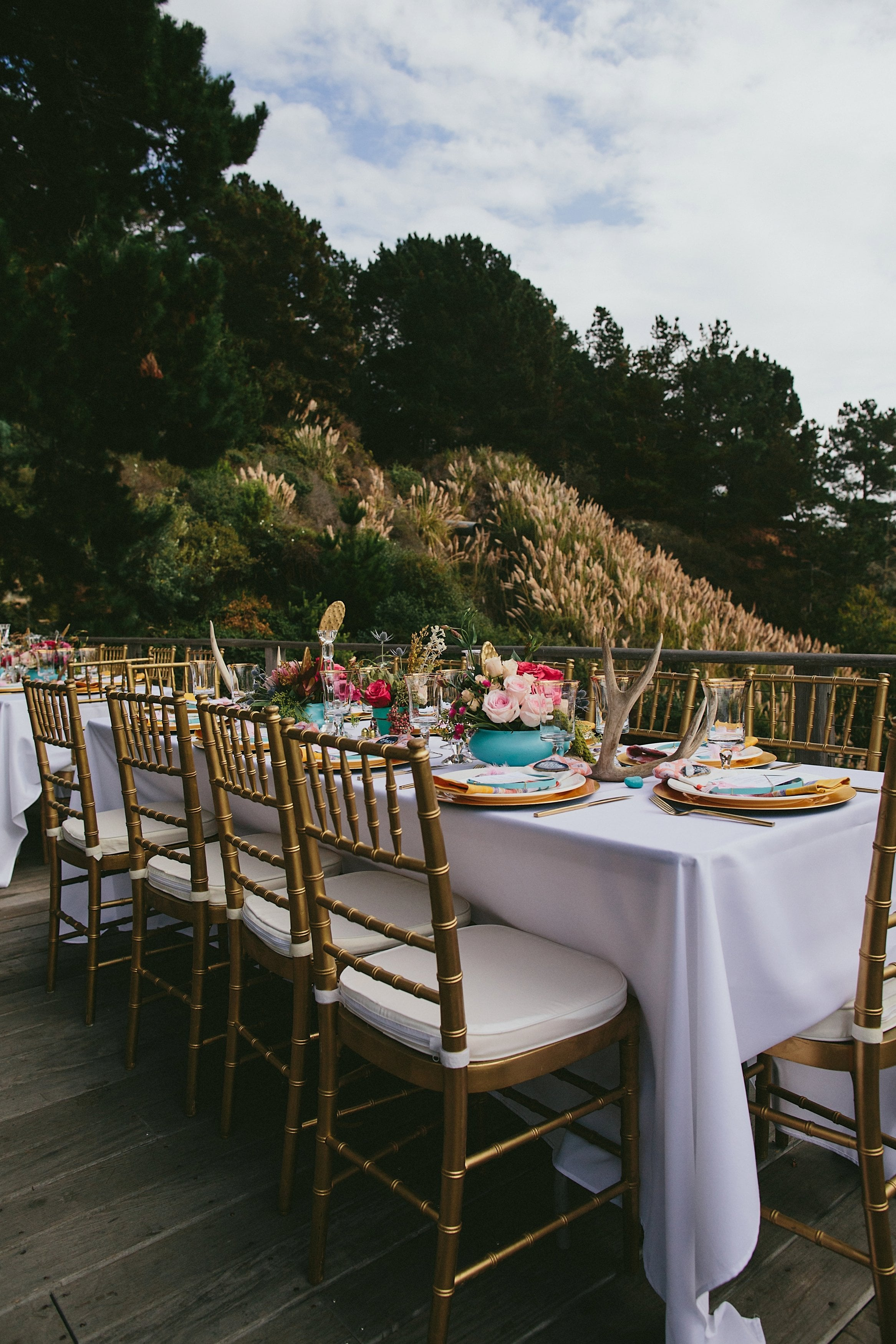 Table Decor and Wedding Flowers by Kate Healey of Big Sur Flowers