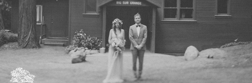 Groom and Bride with Bouquet and Flower Crown by Kate Healey