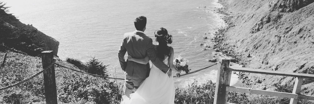 Kate Healey wedding bouquet at Ragged Point Big Sur