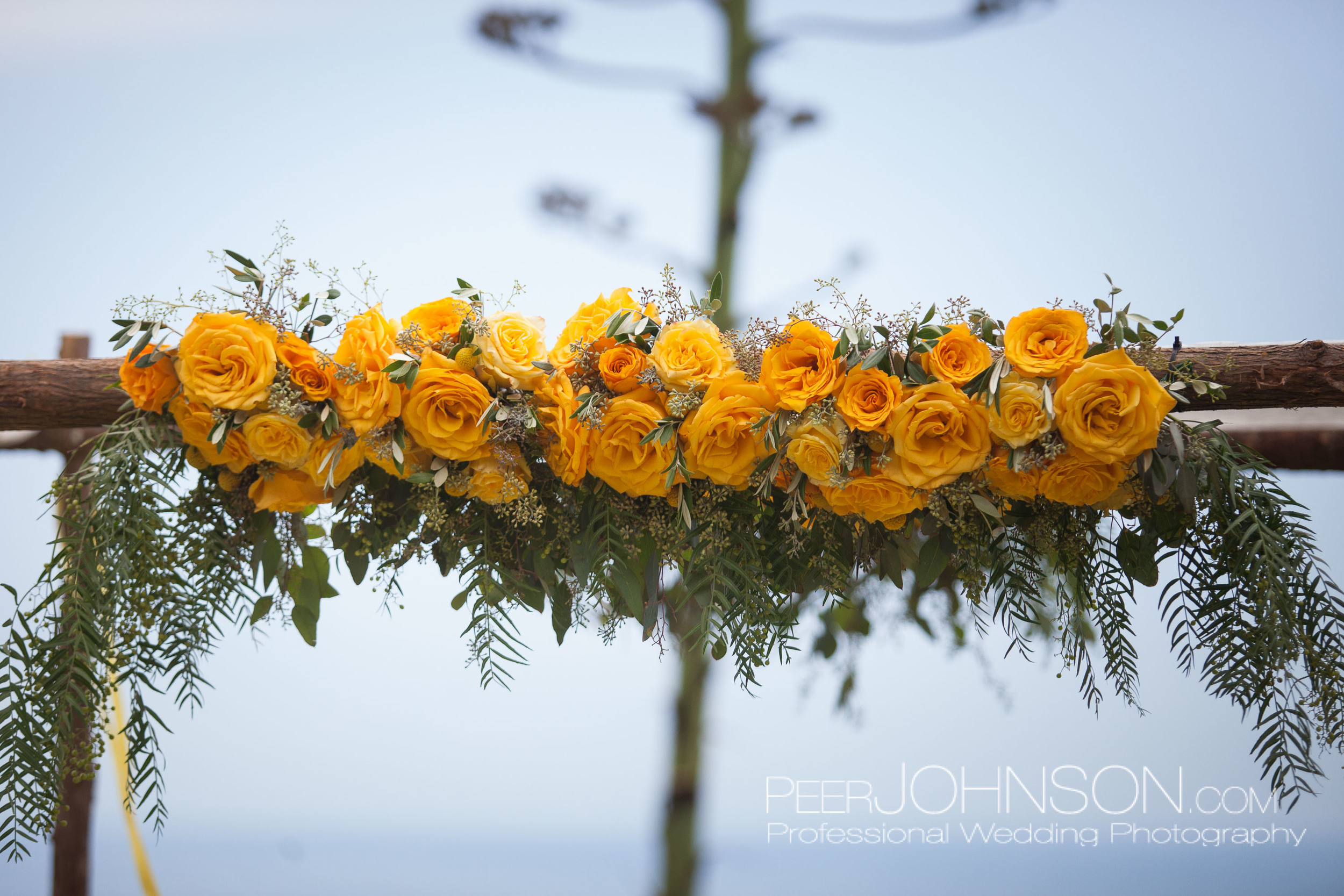 Yellow Rose Wedding Decor by Kate Healey