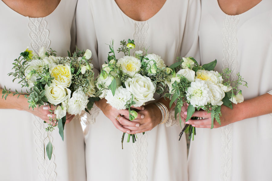 Three Bridesmaids Bouquets by Big Sur Flowers
