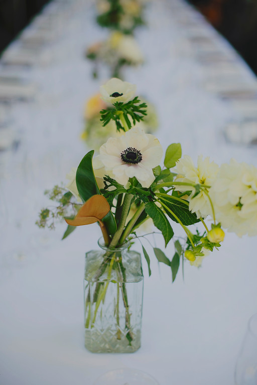 Table Flowers by Kate Healey for Ventana Wedding