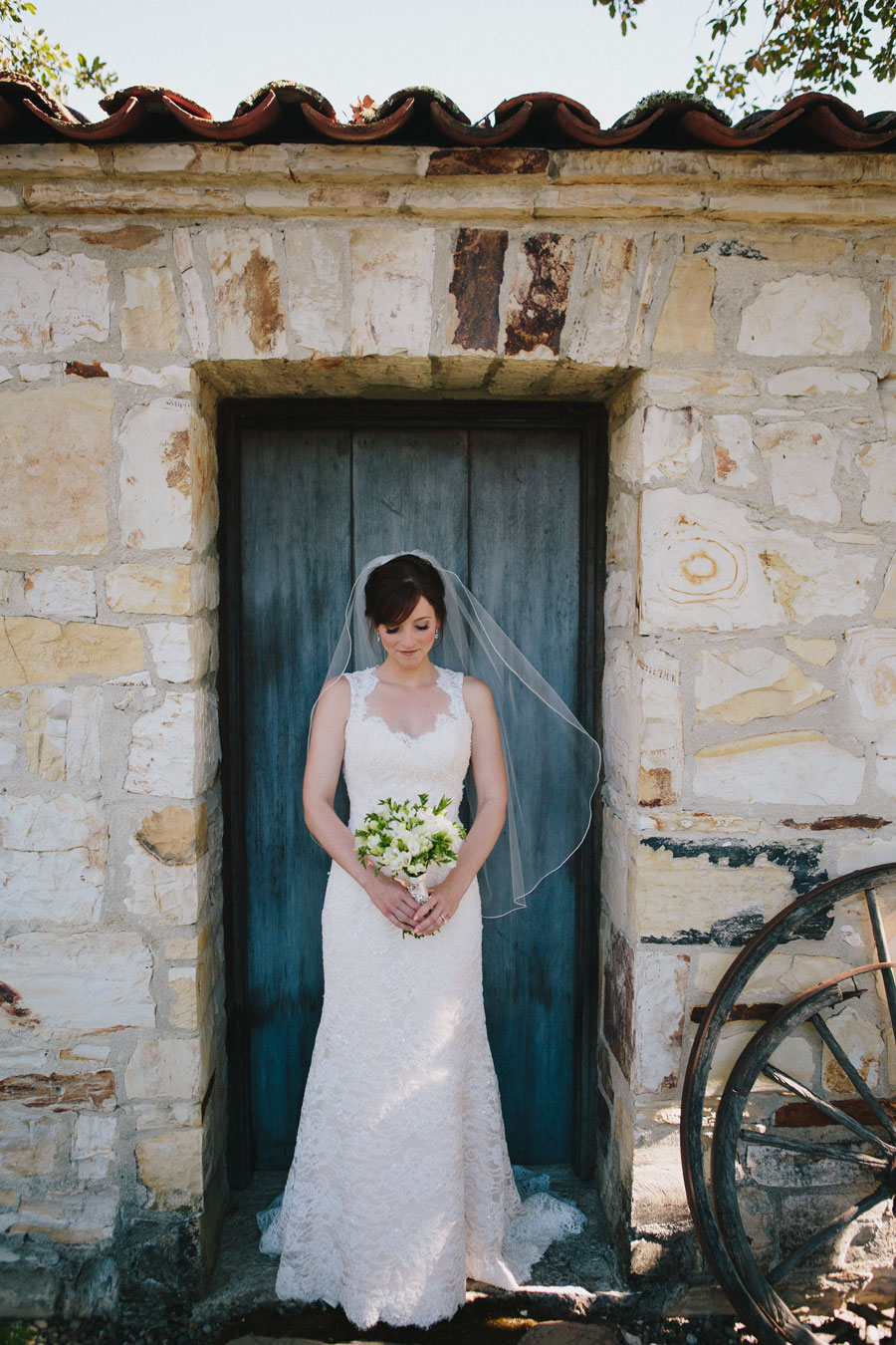 Bride Holding Kate Healey Bouquet at the Holman Ranch