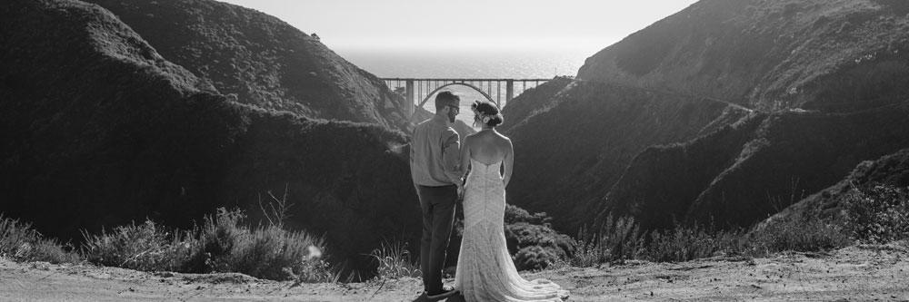Bride and Groom in Big Sur