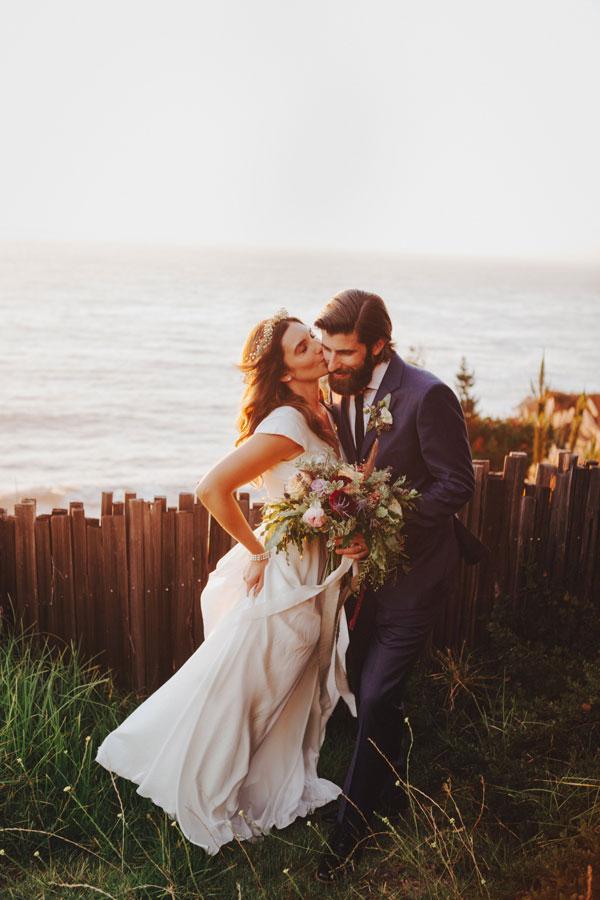 Bride Kissing Her Groom