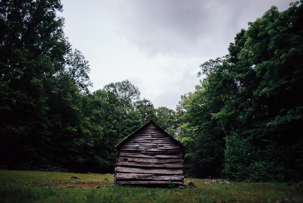 A cabin on Mount Le Conte, Tennessee.
