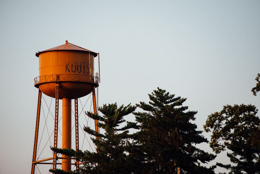 The Kouts water tower.
