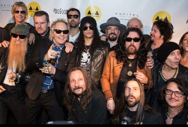 Disreputable Few at a Adopt the Arts event with Billy Gibbons, Duff, Slash, Matt Sorum, Billy Duffy, Steve Lukather, Damon Fox, Jimmy Vivino and Butch Trucks.