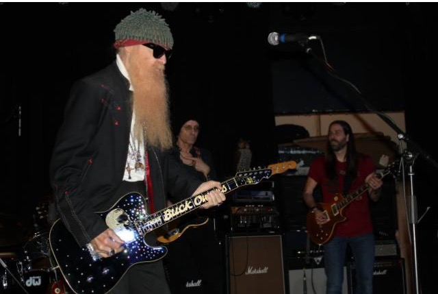 Disreputable Few's Paul Ill and Mark Tremalgia with Billy Gibbons