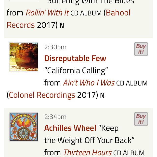 Our first airtime for the new LP yesterday!! WERU with Fritz Homans.  Thank you! #mrzeus #disreputablefew #californiacalling #weru