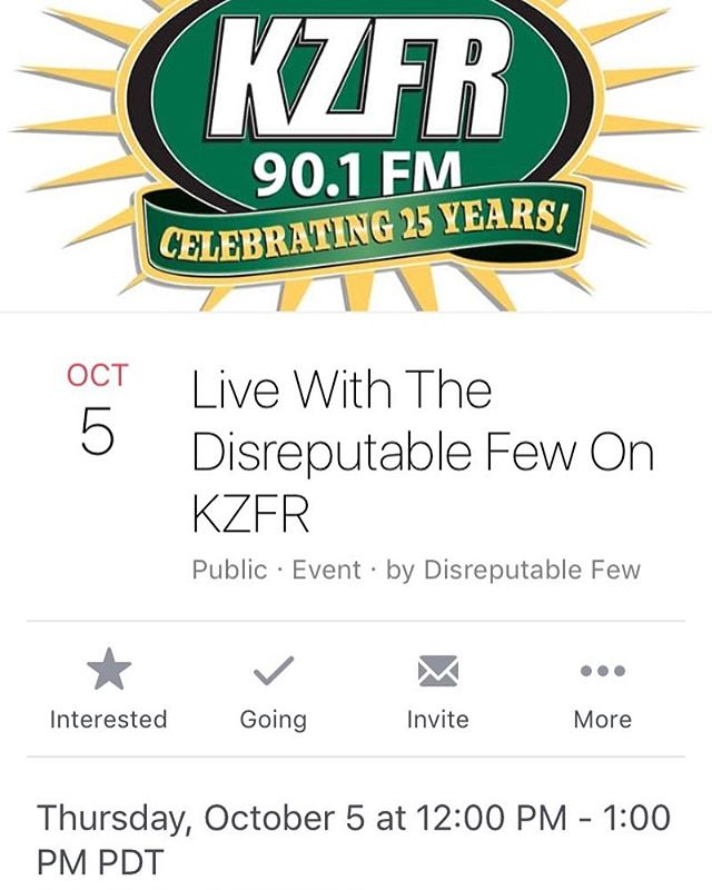 We're so excited for this! They'll be playing some news song and talking music with us for the hour. #kzfr #mrzeus @paulillmusic @marktremalgia @danpotruchondrums #randyraymitchell #liveradio #chicoca #jamband