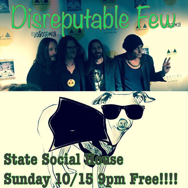 Sunday, Sunday, Sunday! State Social House on Sunset Blvd 9pm... Free!!! #mrzeus #livemusic #jamband #statesocialhouse #sunsetblvd #randyraymitchell @paulillmusic @danpotruchondrums @marktremalgia #gogtuners #wedgiepicks