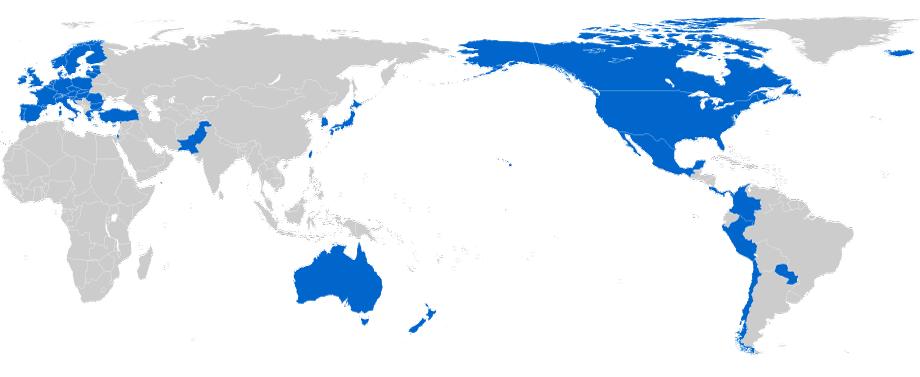 TISA nations in blue (www.dfat.gov.au)
