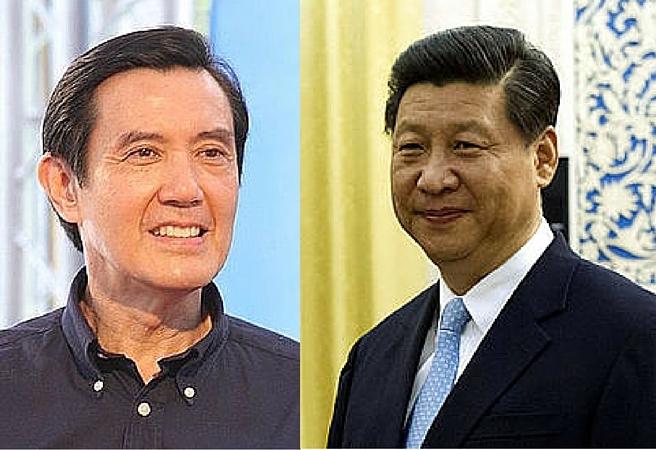 Taiwan's Ma Ying-jeou and China's Xi Jinping