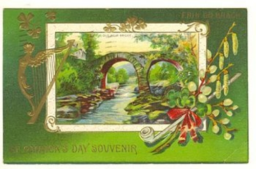 """Postcard from 1912 for """"St. Patrick's Day"""""""