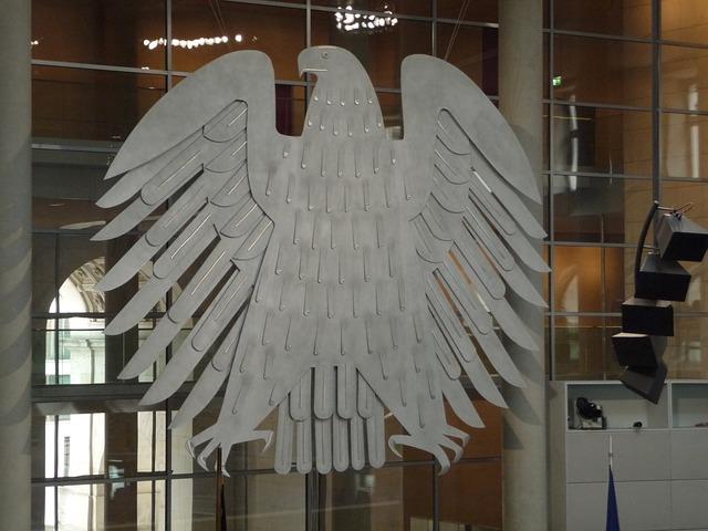 The Bundestag eagle, Germany