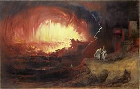 Depiction of the destruction of Sodom and Gomorrah