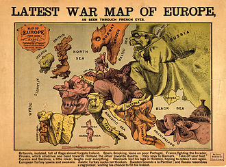 1870 French Depiction of Europe at War