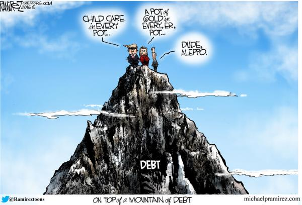Source: MichaelPRamirez.com   http://www.zerohedge.com/news/2016-09-17/its-still-debt-stupid