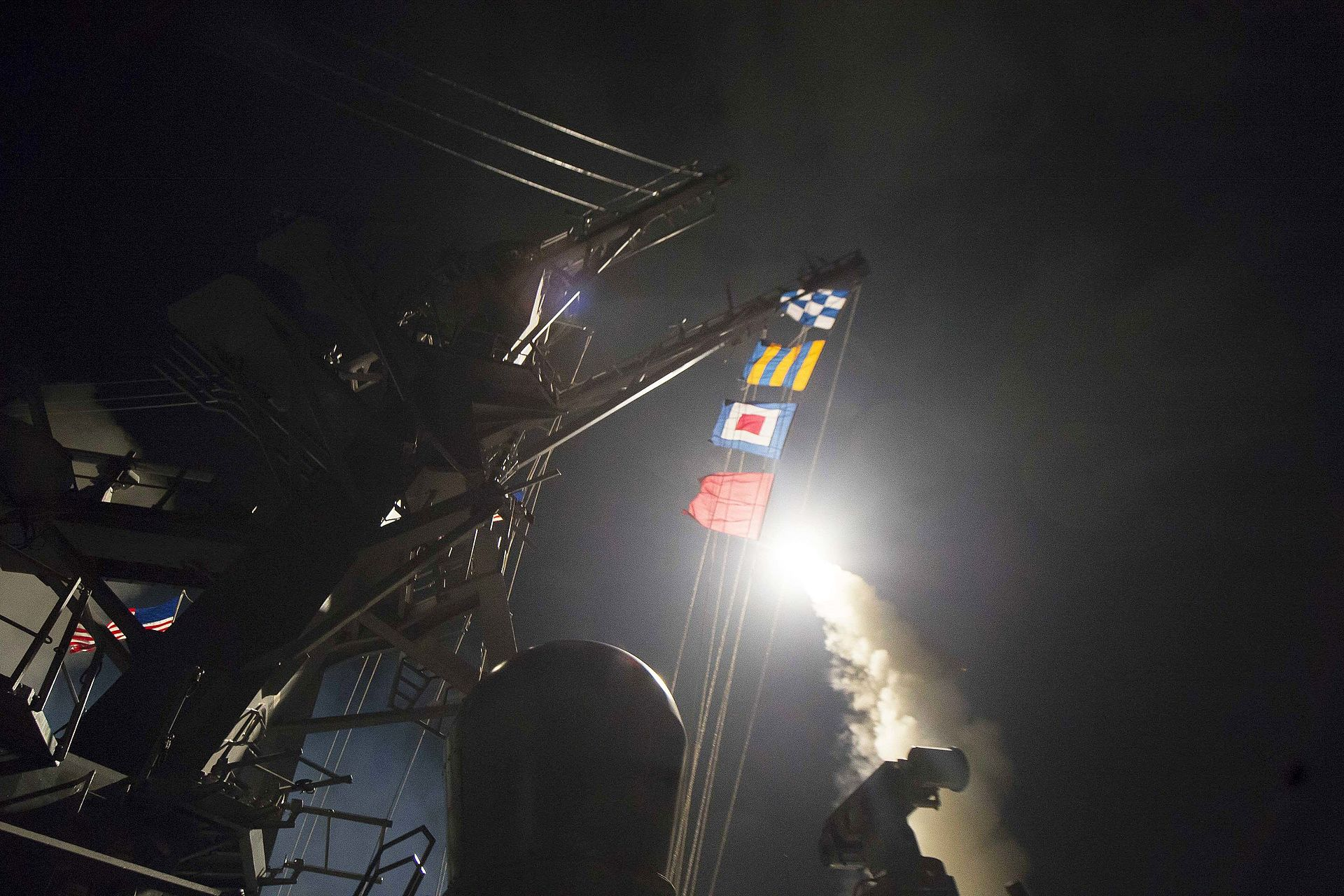 US  Tomahawk missile headed to Syria