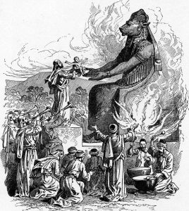 Offering to Molech (illustration from the 1897Bible Pictures and What They Teach Usby Charles Foster)
