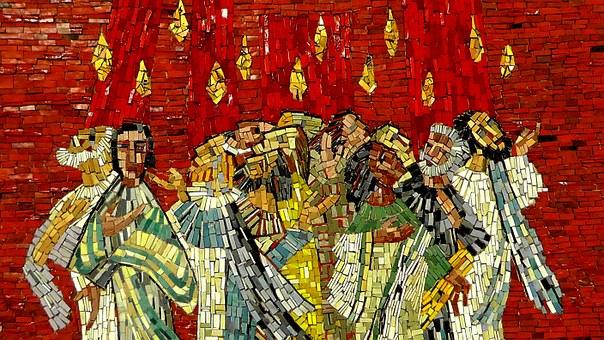Artist Depiction of Pentecost (Pixabay)
