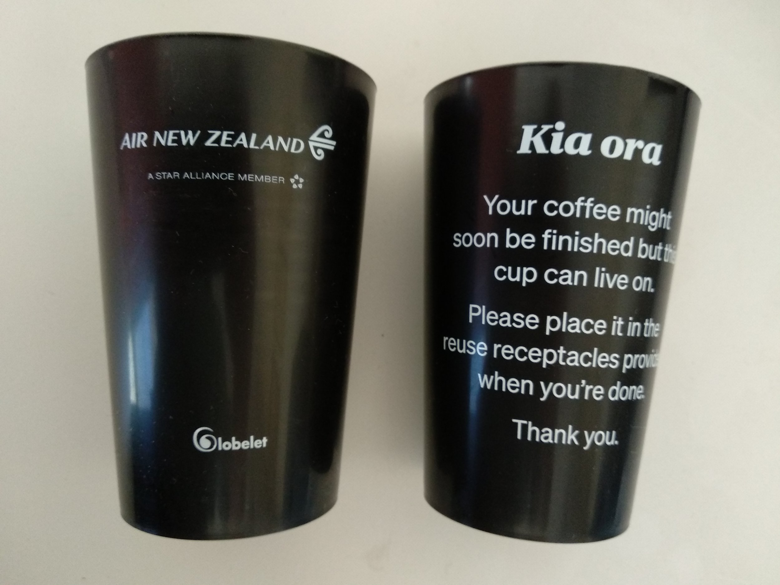 Air New Zealand Reusable Cups