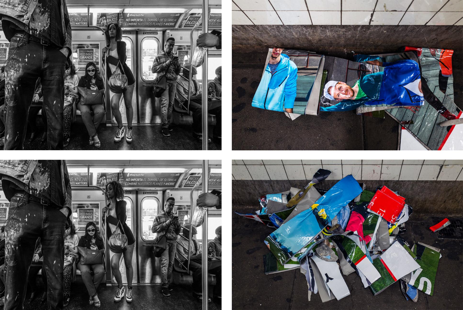 J 2 Manhattan,  variation, 2015. C-prints, on photo paper.