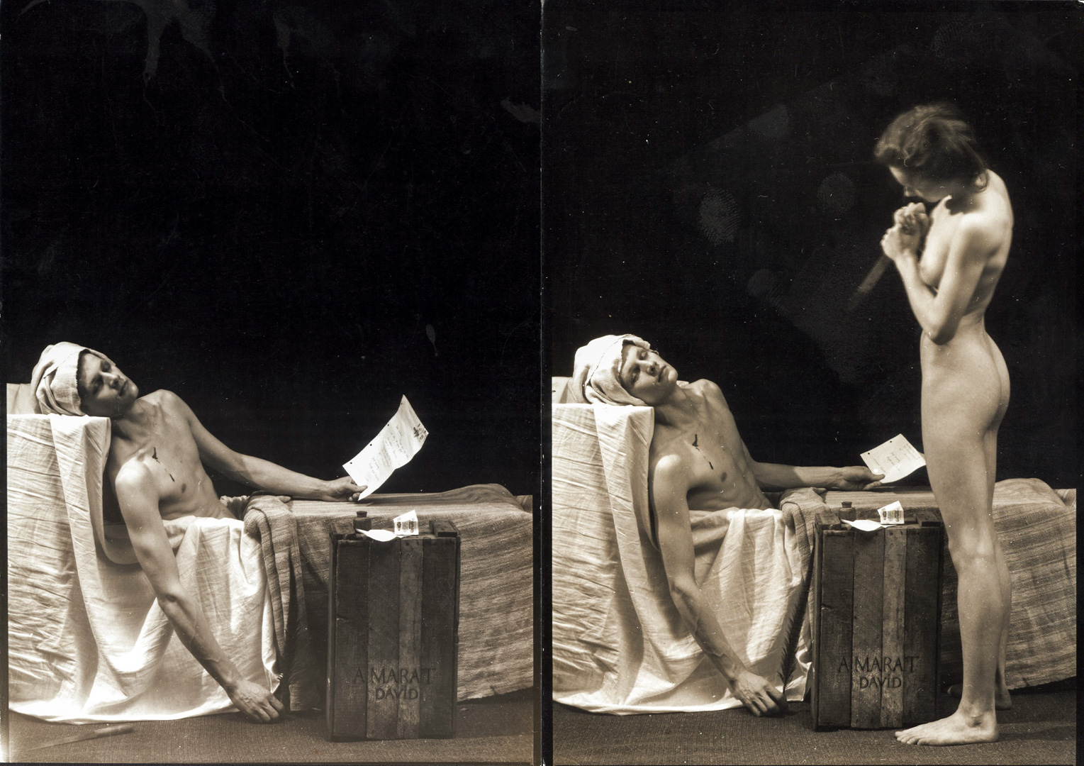Death of Marat, according to Jacques-Luis David (sequence)