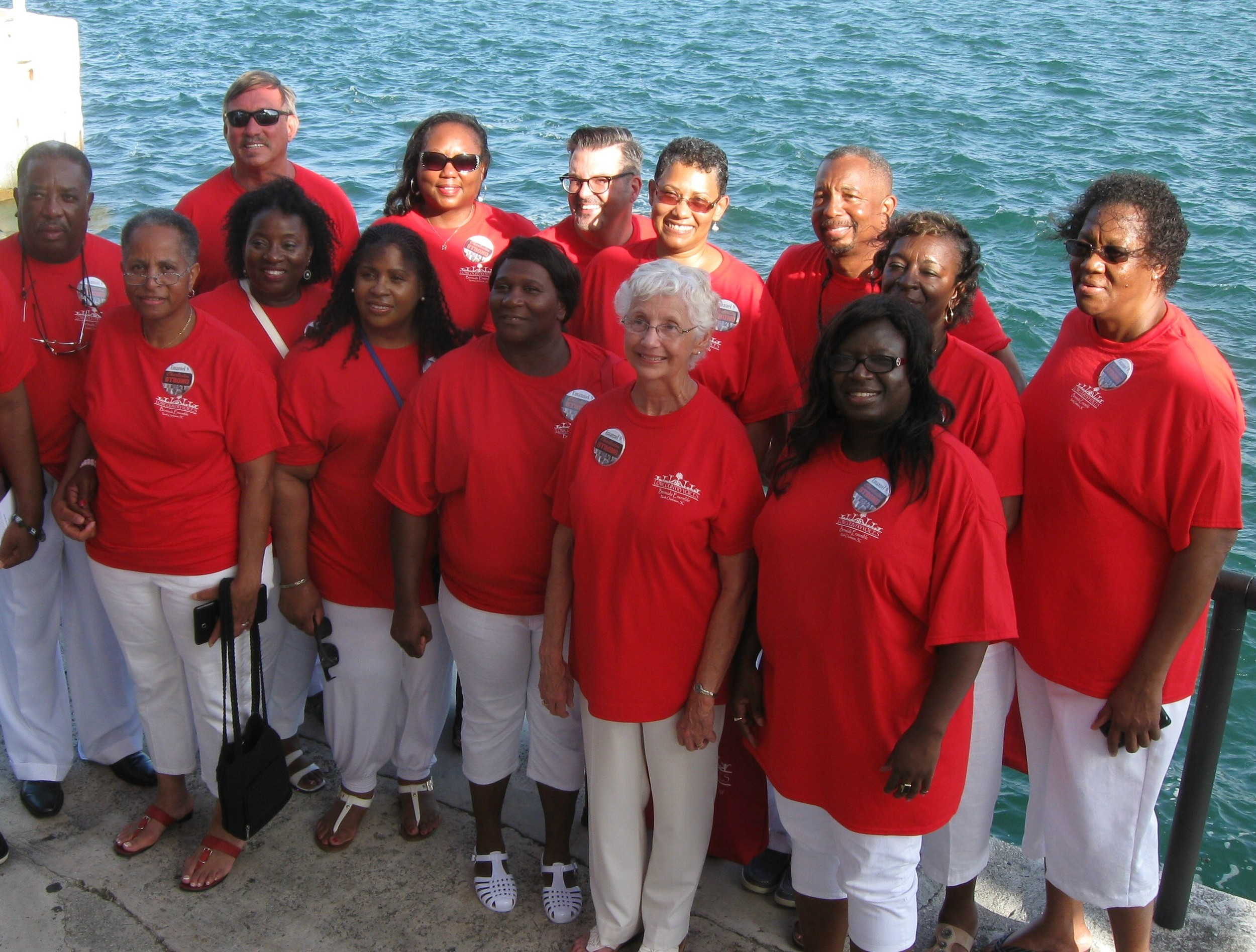 Lowcountry Voices on Bermuda tour, July 2015.
