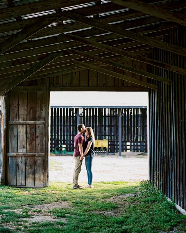 Rustic vibes all over this engagement session. I meet some of the kindest people in KY.  Portra 400 Film | Develop & Standard Scan at @statefilm