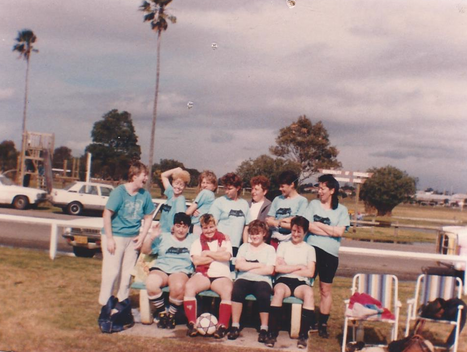 photo: Tracey atkinson and alison todd.Left to right: Back row: (?), linda patterson, ANN,tracey atkinson, (?), Anne HIMMelreich, NANCY. FRONT LEFT: DOT.