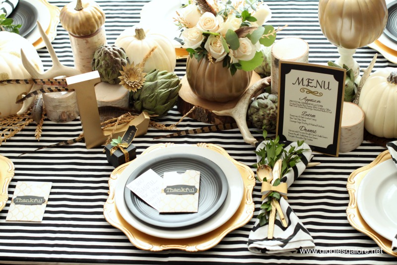 Cute black and white table from Giggles Galore!