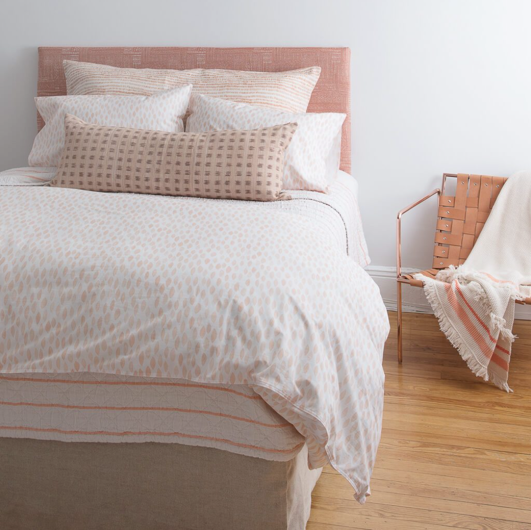 1. Rebecca Atwood - One of my favorite fabric designers has come out with a bedding line that is just as amazing as all of her fabrics. In shades of pinks, blues and grays they are the perfect touch to refresh any bedroom.