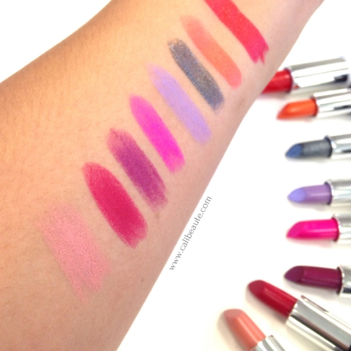 Colors from bottom L-R: Noble, Bachelorette, Wolvesmouth, Sexer, Coven, NaYeon, Halo, and Gold Blooded.