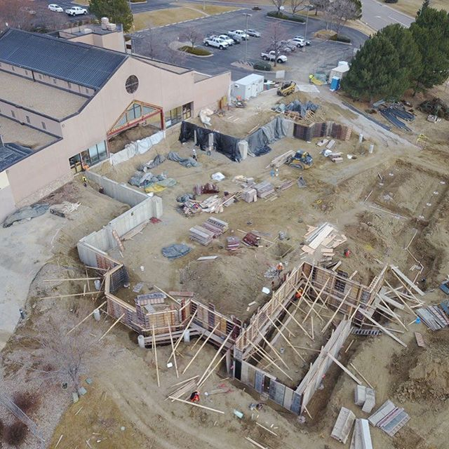 Strip those walls and on to some more walls! Moving right along with the foundation. Weather has been cooperating! Hope it continues! #weather #construction #fortcollins #gc #🇺🇸 #catholichurch #architecture #builder #craftsmanship