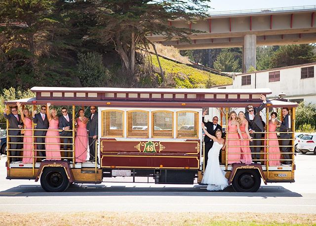 Loving this fun cable car shot by @colsongriffith from a September wedding I worked! #SF #sfmakeupartist #sfbridalmakeup #bridalmakeupartist