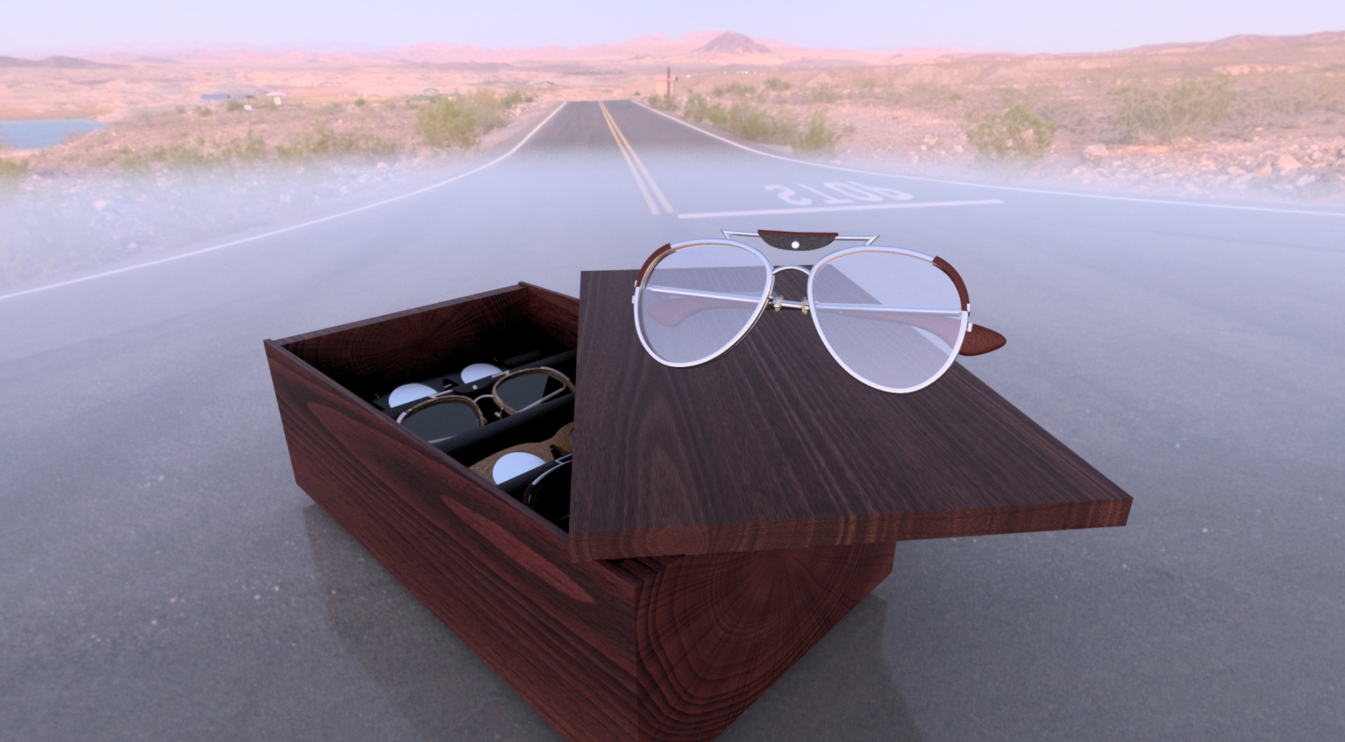 Spectacles Promotional Photo, 2015; Fusion360; Rendering by Louise Larson; Pittsburgh, PA