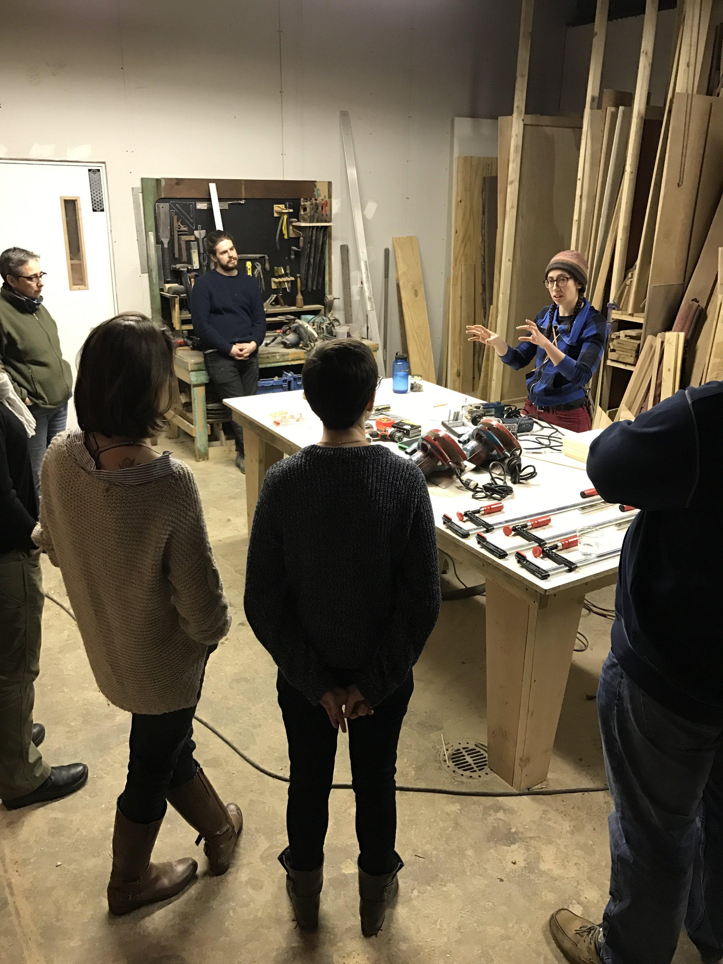 Miriam Devlin's Woodshop Basics Class, 2017; Photo by Louise Larson; Pittsburgh, PA