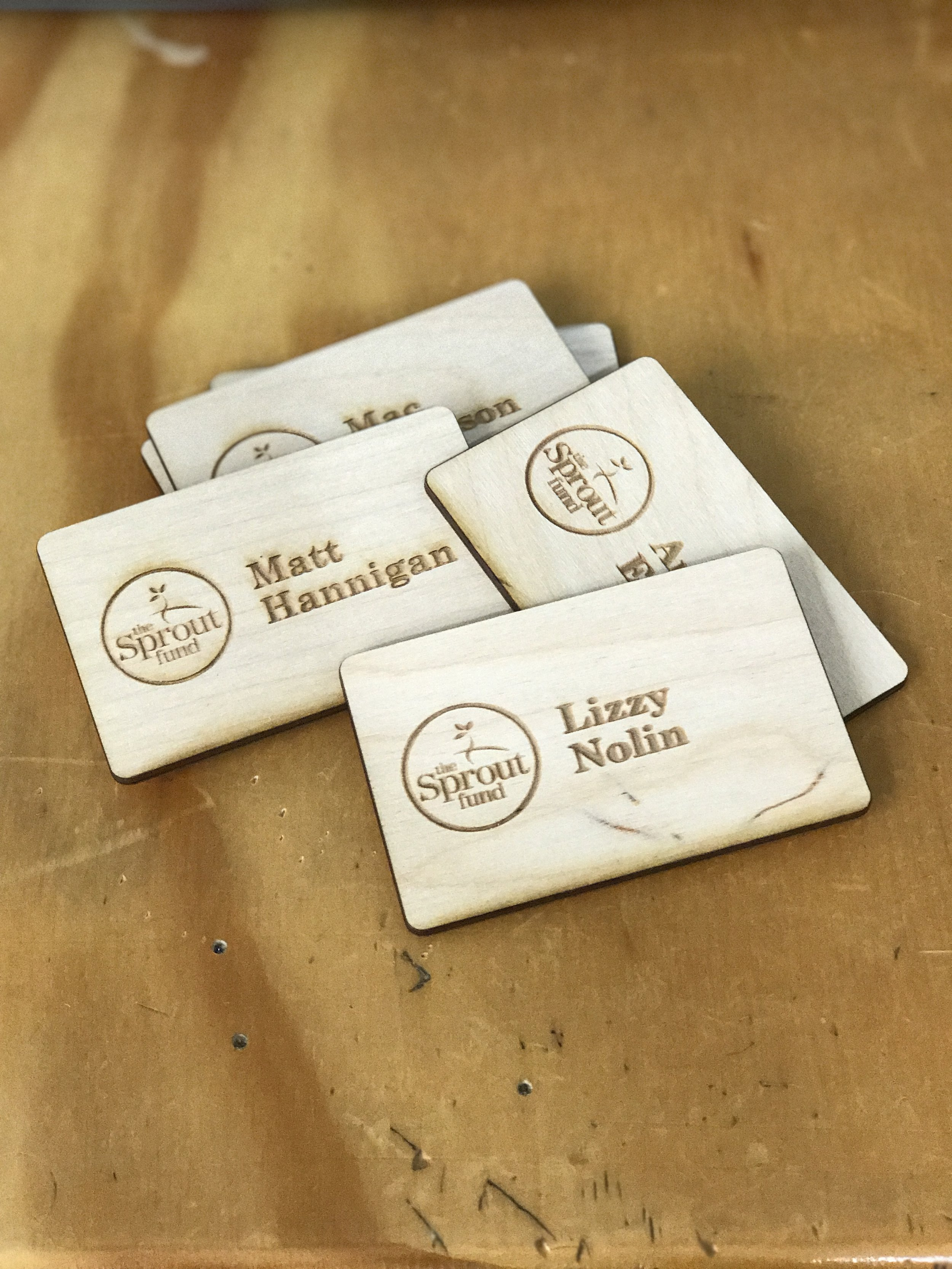 Sprout Fund Staff Name Tags