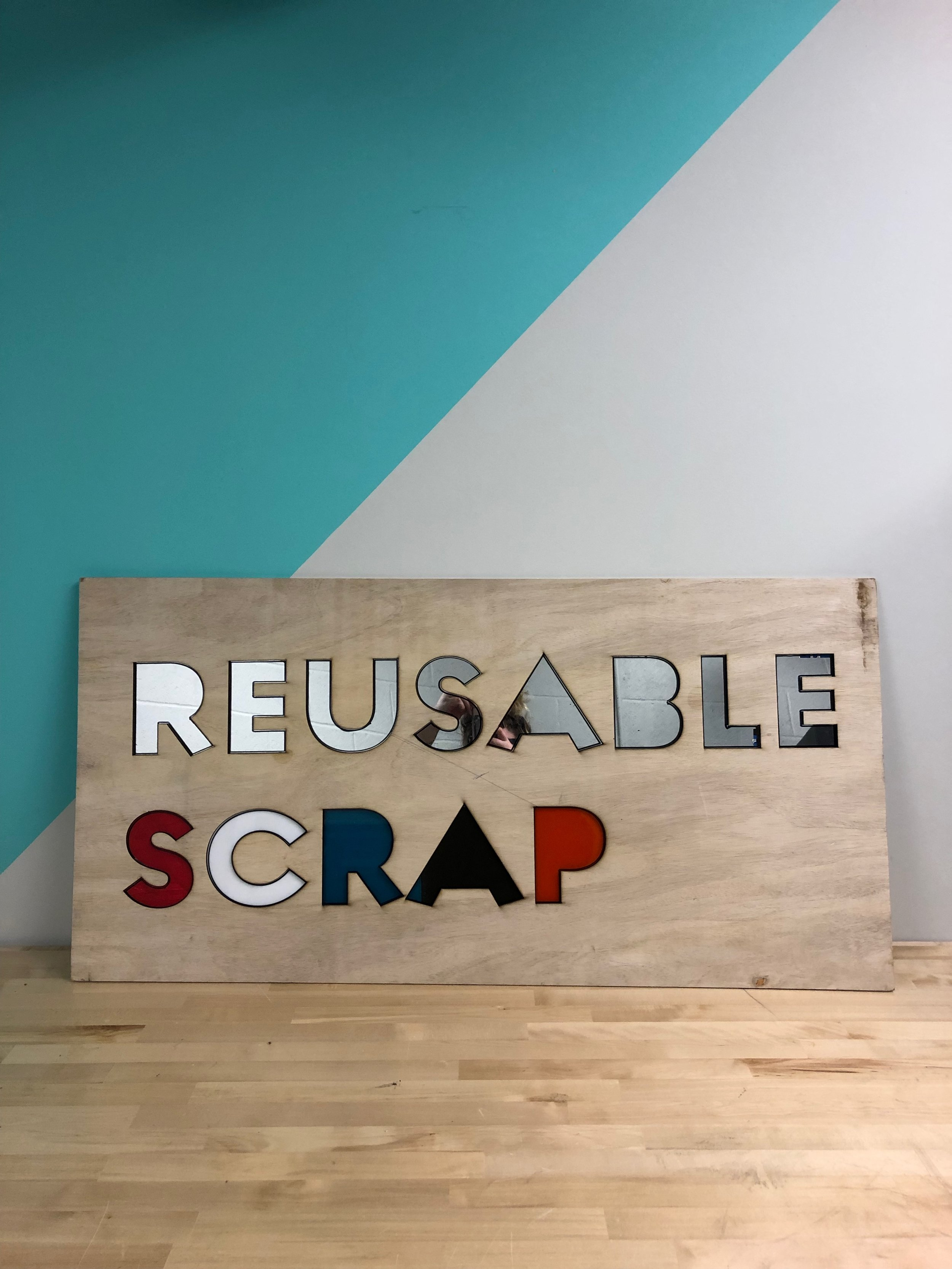Reusable Scrap Sign